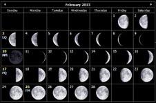 february 2013 moon lunar calendar