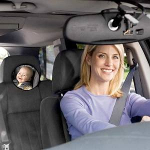 imaginary baby in backseat rear view mirror
