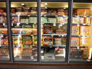 frozen food aisle grocery store