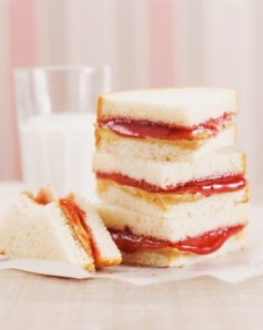 PB&J peanut butter and jelly sandwich